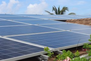 Residential solar panel installation with an in Long Bay Development, St. Phillip, Barbados