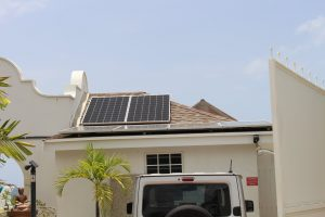 Residential solar panel installation with an in Chancery Lane, Christ Church, Barbados