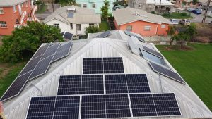 Solar panel installation in Christ Church, Barbados