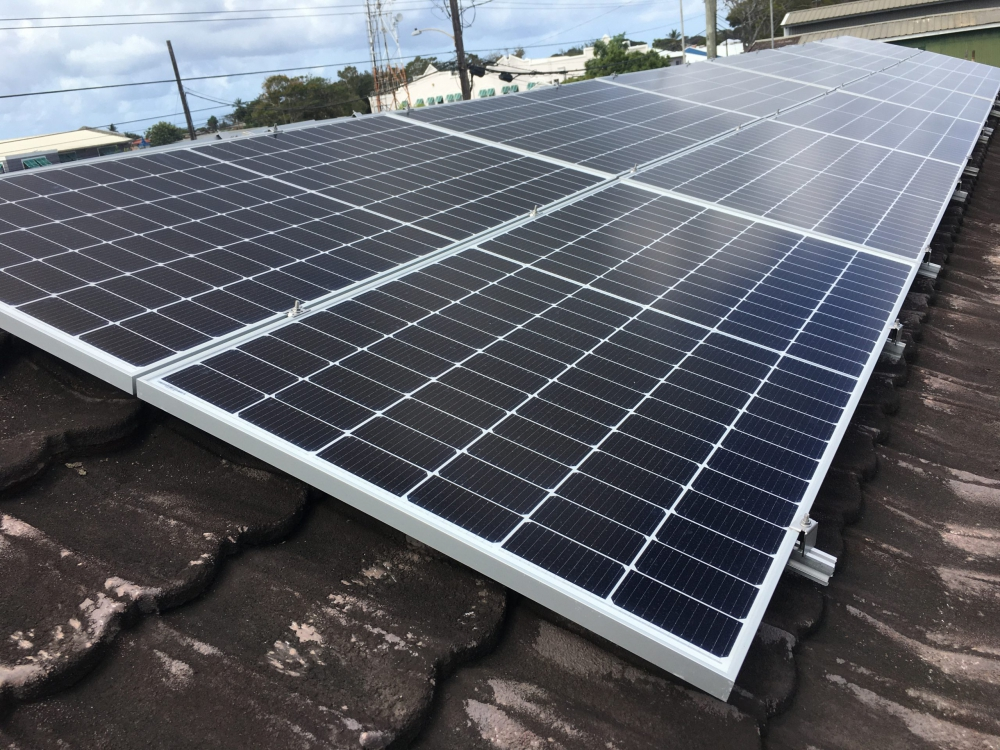 Commercial solar panel installation at Proco Holdings Limited, Barbados